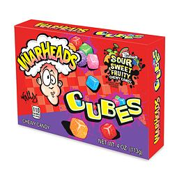 Warheads Sour & Sweet Fruity Chewy Cubes 113 g