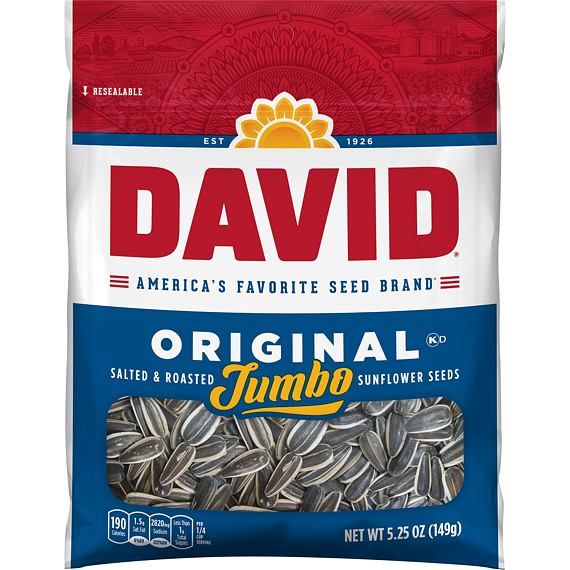 David Jumbo Original Sunflower Seeds 149 g