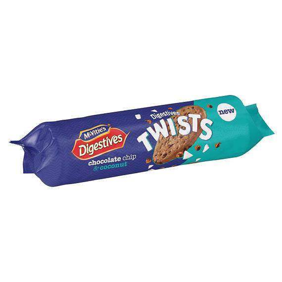 McVitie's Digestives Twists Chocolate Chip & Coconut 276 g