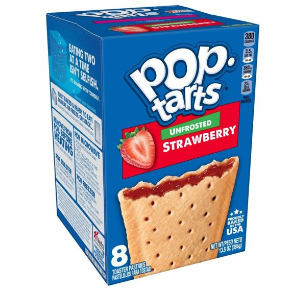 Pop-Tarts Unfrosted Strawberry 384 g