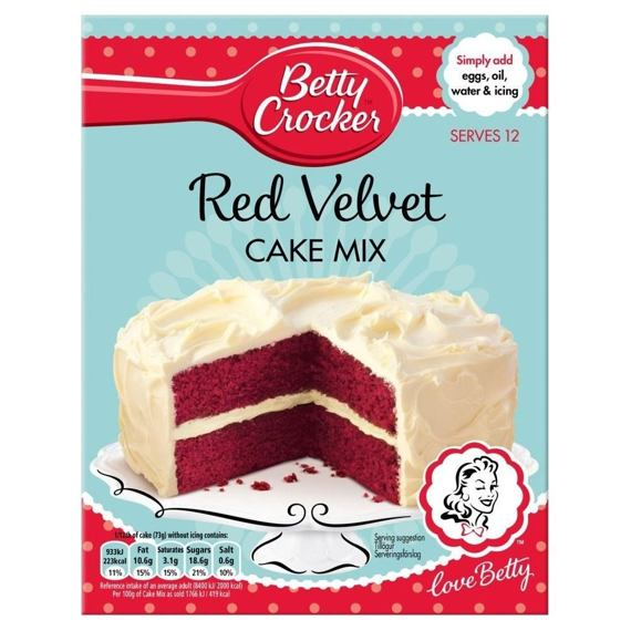 Betty Crocker Red Velvet Cake Mix 425 g