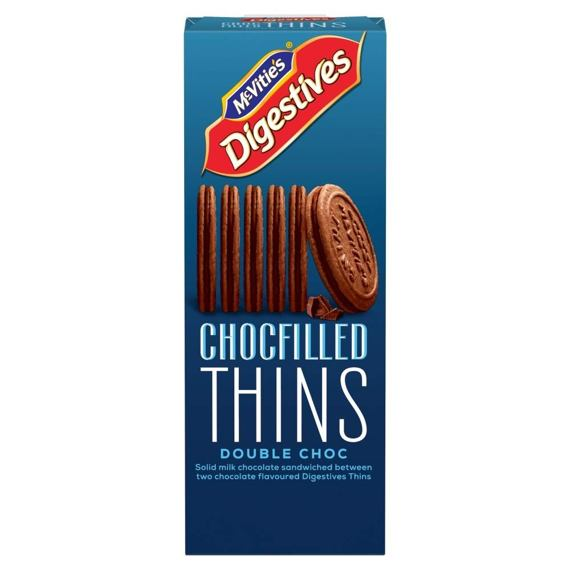 McVitie's Digestives Chocfilled Thins Double Choc 130 g