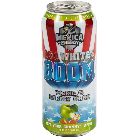 Merica Energy Red, White & Boom Not Your Granny's Apple 480 ml