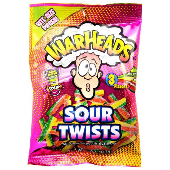 Warheads Sour Twists 113 g