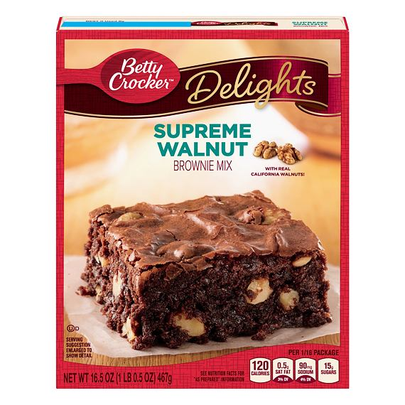 Betty Crocker Delights Supreme Walnut Brownie Mix 467 g