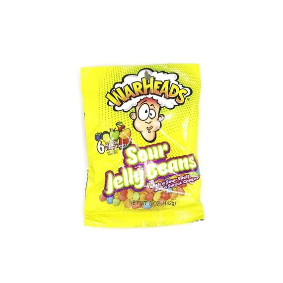 Warheads Sour Jelly Beans 142 g