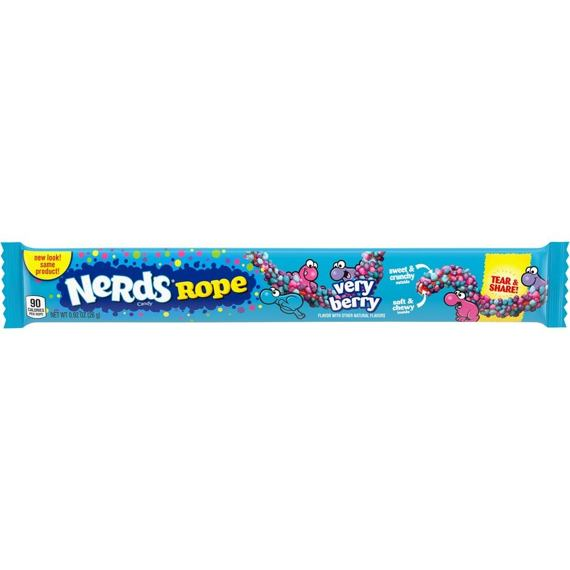 Nerds Rope Very Berry 26 g Celé Balení 24 ks