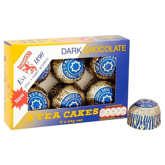 Tunnock's Dark Chocolate Tea Cakes 6x24 g