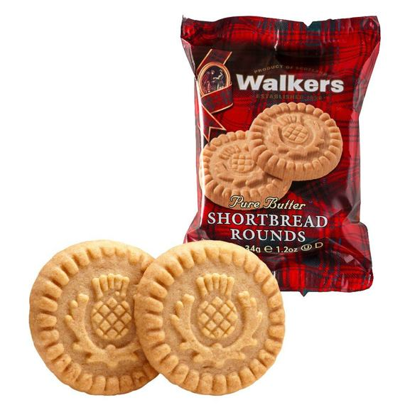 Walkers Pure Butter Shortbread Rounds 34 g