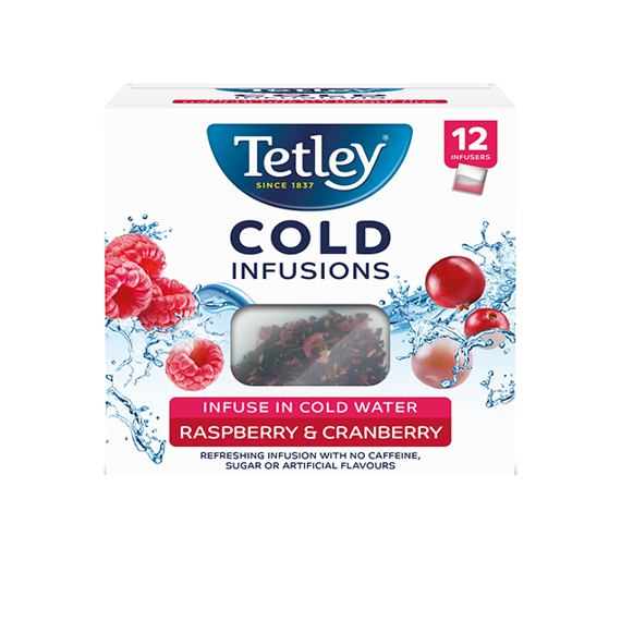 Tetley Cold Infusions Raspberry & Cranberry 12 ks 27 g