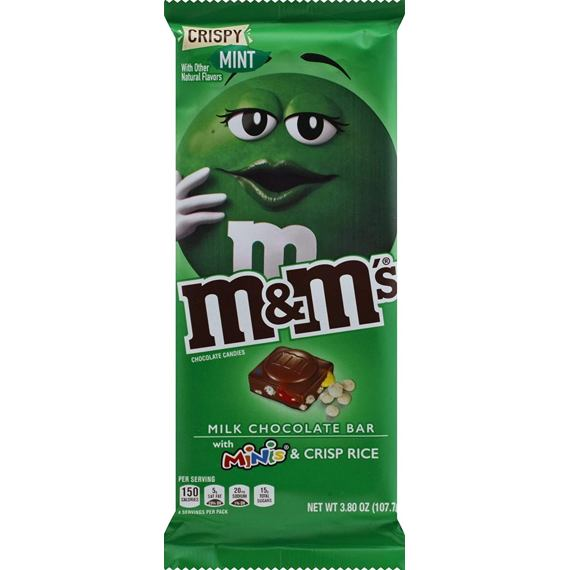 M&M's Crispy Mint with Minis and Crisp Rice 107.7 g