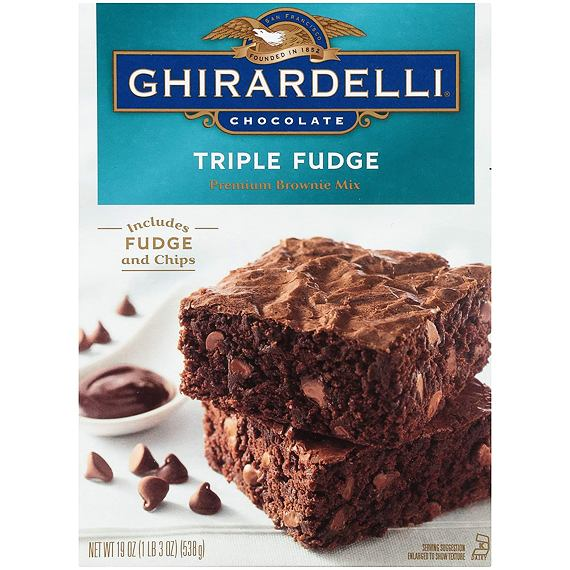 Ghirardelli Triple Fudge Premium Brownie Mix 538 g