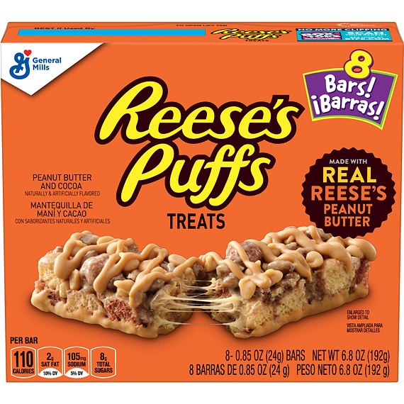 Reese's Puffs Treats 8 Bars 192 g