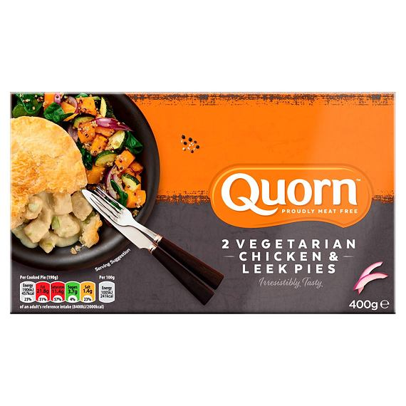 Quorn 2 Vegetarian Chicken & Leek Pies 400 g