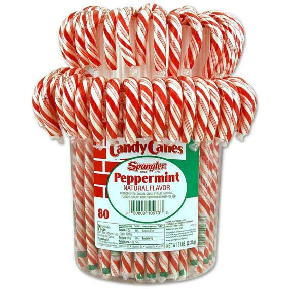 Spangler Peppermint Candy Cane 1 ks 28 g