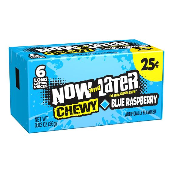 Now and Later Blue Raspberry 26 g PM