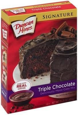 Duncan Hines Signature Triple Chocolate Cake Mix 432 g