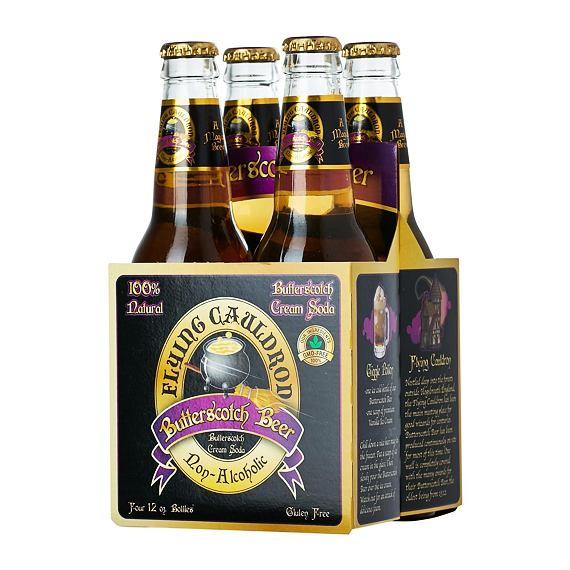 Flying Cauldron Butterscotch Beer 355 ml 4 ks Zvýhodněné Balení