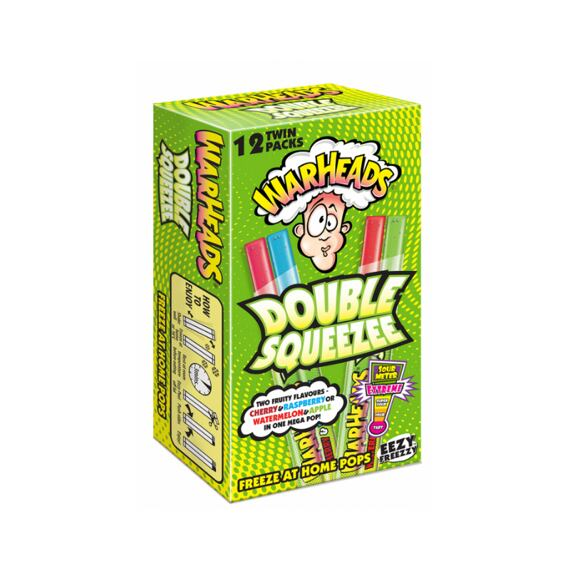 Warheads Extreme Sour Double Squeeze Pops 12x20 ml