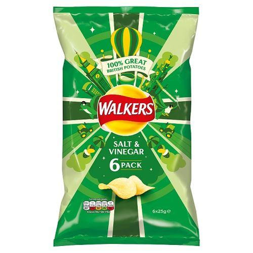 Walkers Salt & Vinegar 6x25 g