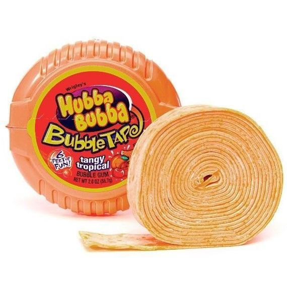 Hubba Bubba Bubble Tape Tangy Tropical 56.7 g