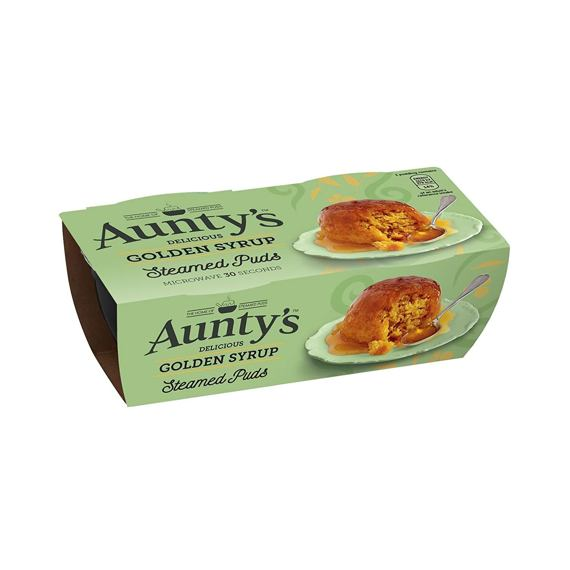 Aunty's Steamed Puds Golden Syrup 2x95 g