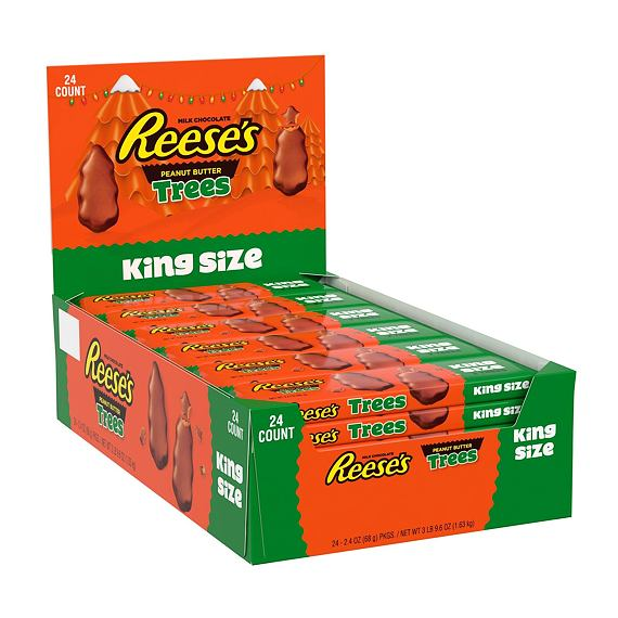 Reese's 2 Peanut Butter Trees King Size 68 g Box of 24