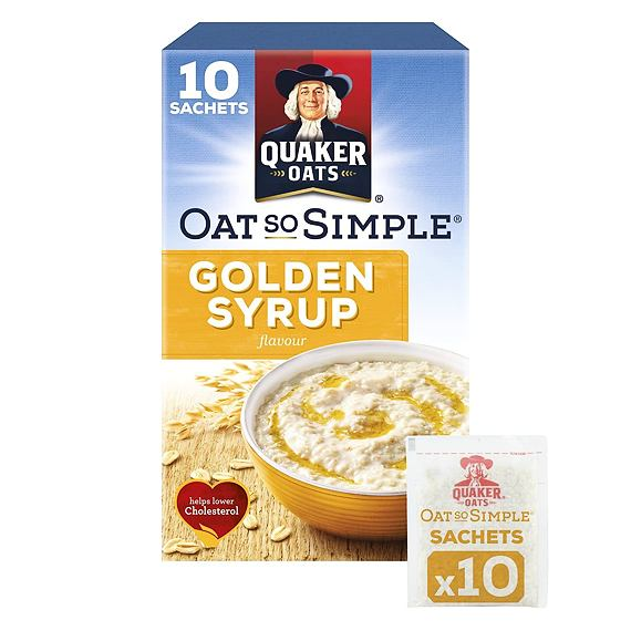 Quaker Oats So Simple Golden Syrup 10 ks 360 g
