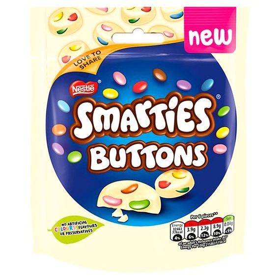Smarties Buttons White 85 g